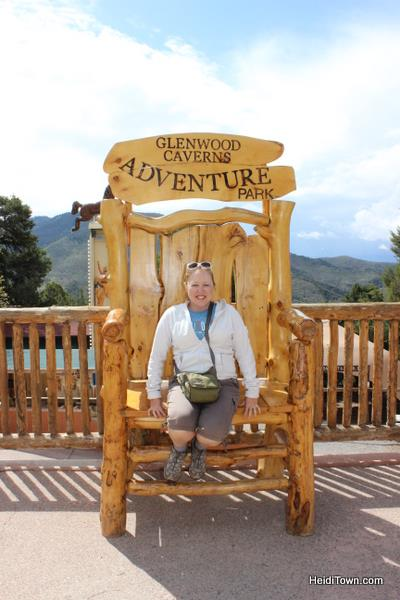 Heidi Kerr-Schlaefer at Glenwood Caverns Adventure Park. HeidiTown.com