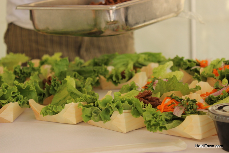 Asian lettuce wraps by Chef Fawn of Sweetwater Grill during All Arts Festival 2013 in Steamboat Springs.