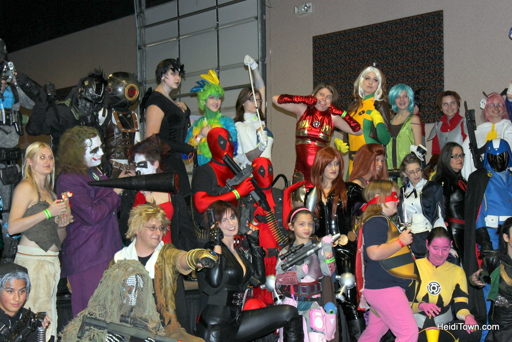 Cosplay contestants at Rocky Mountain Con 2013, in Denver, Colorado. HeidiTown.com