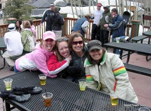 Hanging out with friends at Bear River Bar & Grill at Steamboat Resort. HeidiTown.com