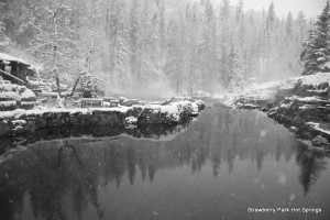 Photo from Strawberry Park Hot Springs.