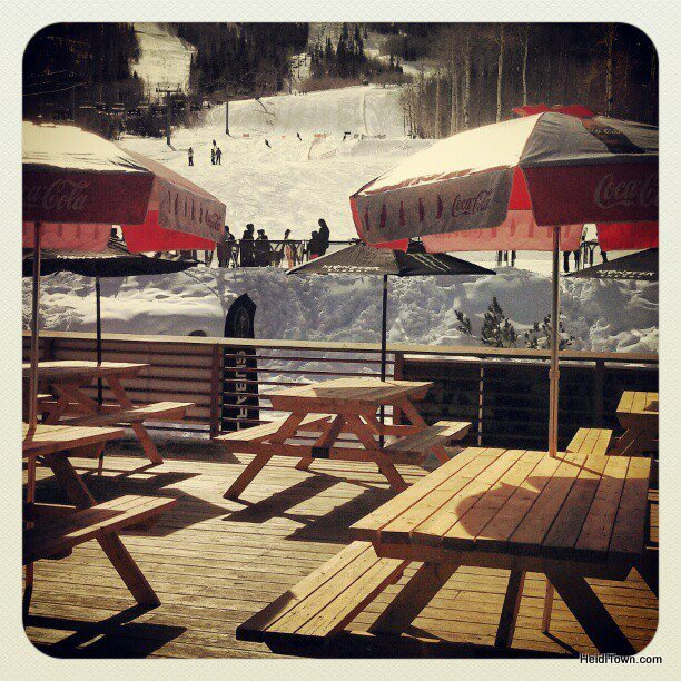 The big deck at Powderhorn Mountain Resort. HeidiTown.com
