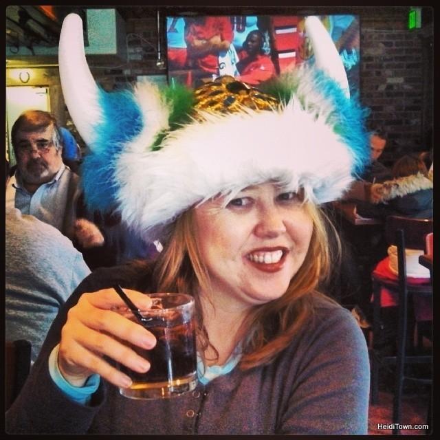 Heidi at Fatty's during Ullr Festival in Breckenridge, Colorado. HeidiTown.com