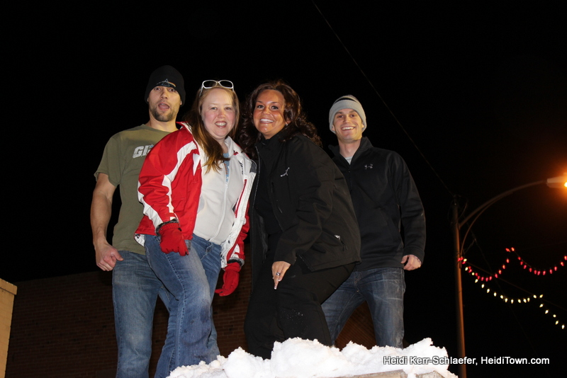 HeidiTown snow stomping team at Loveland Snow Sculpture in the Dark 2013.