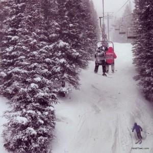 Photo from the ski lift at Breckenridge Ski Resort. HeidiTown.com