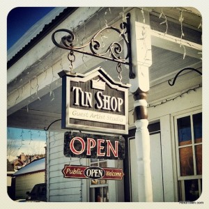 Tin Shop in Breckenridge, Colorado. Artist in residence Johnathan Clark of Houston. Ullr Fest 2014. HeidiTown.com