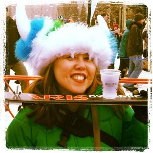 breaking the shotski record with Breckenridge Distillery at Ullr Festival in Breckenridge, Colorado. HeidiTown.com
