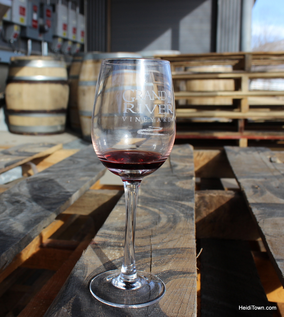 wine glass at Grand River Winery, Palisade, Colorado. HeidiTown.com