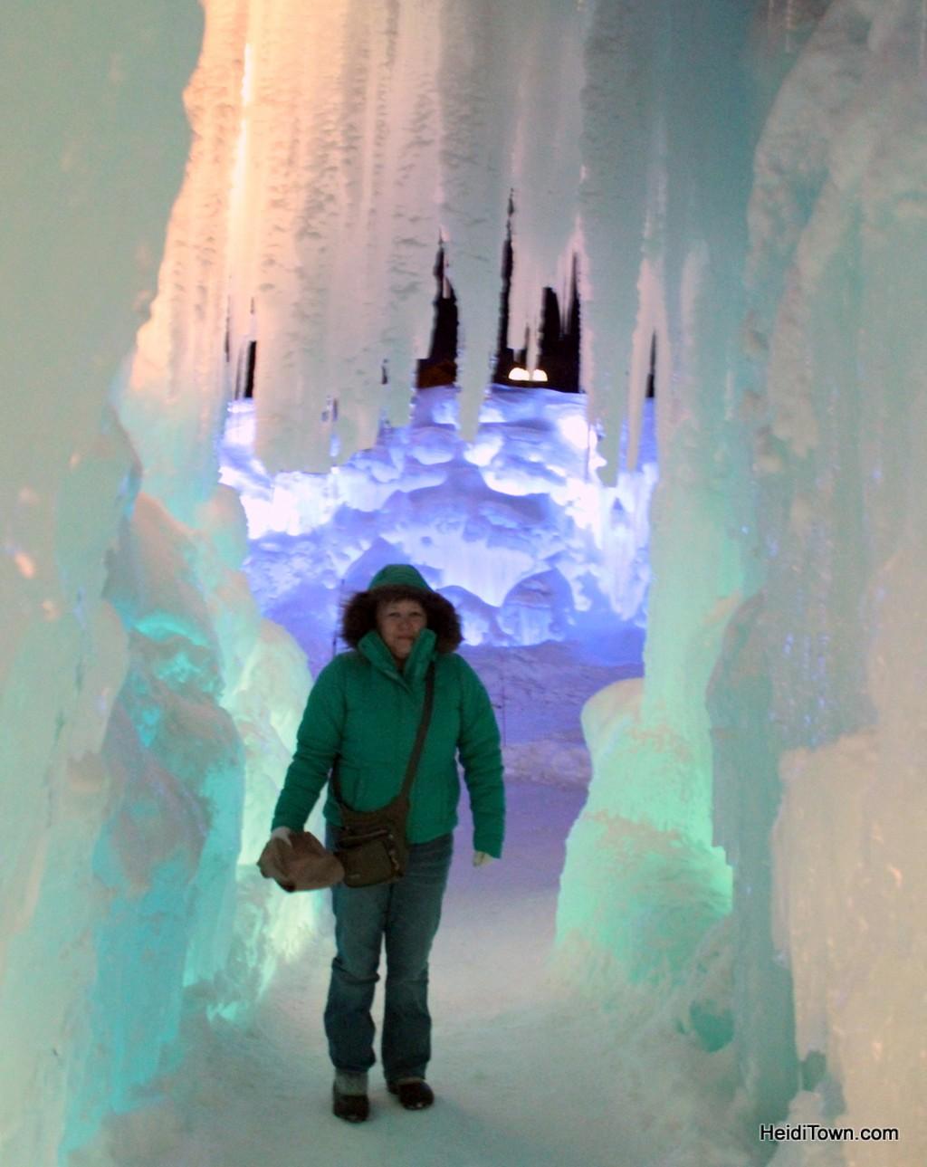 at the ice castle sin Breckenridge, Colorado. HeidiTown.com