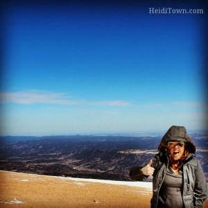 Heidi on Pikes Peak March 2014
