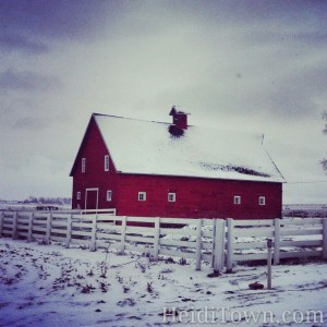 red barn in south Loveland. Photo by HeidiTown.com