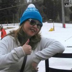 Heidi thumbs up in Vail, Colorado. HeidiTown.com