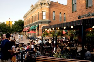Foodie Walk Dining al fresco at Coopersmiths Pub in Fort Collins