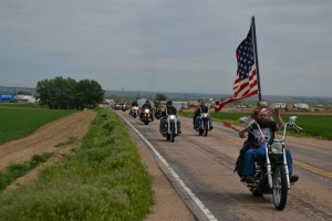 bikers on the Realities for Children poker run