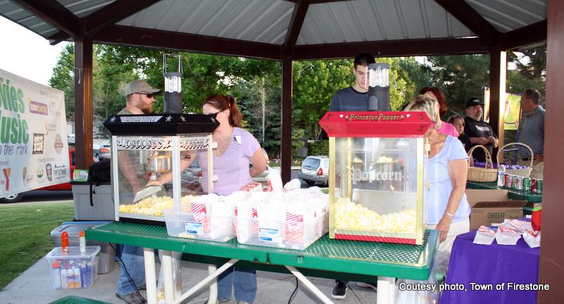 popcorn at Food & Flick Friday in Firestone, Colorado. HeidiTown.com