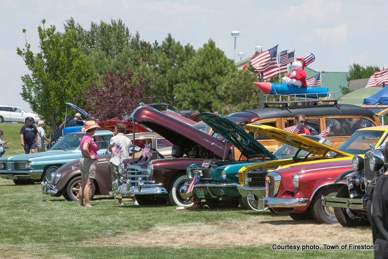 carshow at Firestone Colorado 4th of July