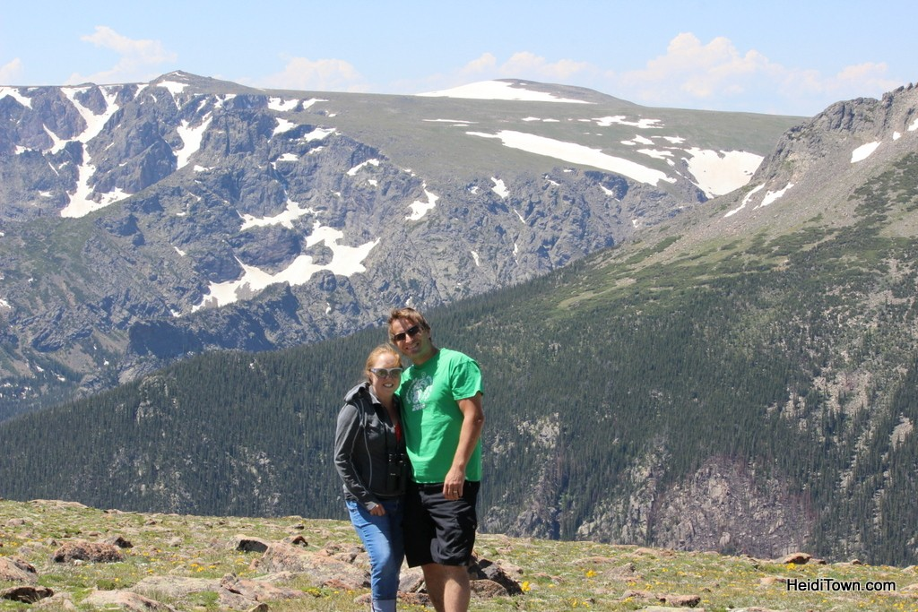Ryan and Heidi along the Ute Trail in Rocky Mountain National Park. HeidiTown.com