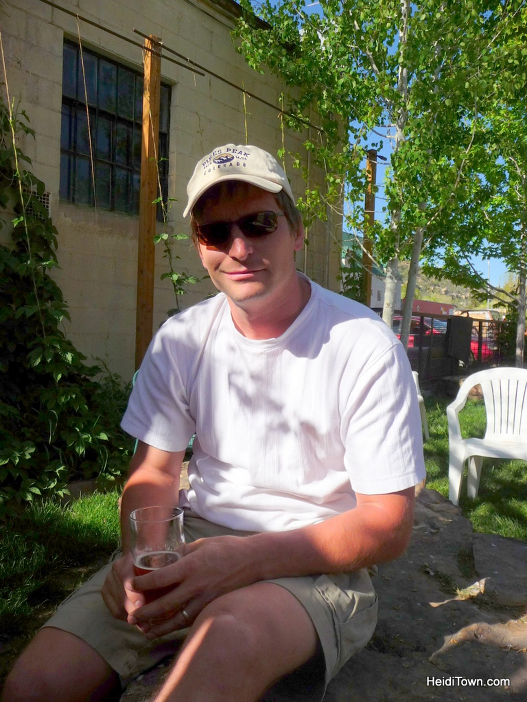 Ryan enjoying a beer at Dolores River Brewing after a day of exploring Mesa Verde. HeidiTown.com
