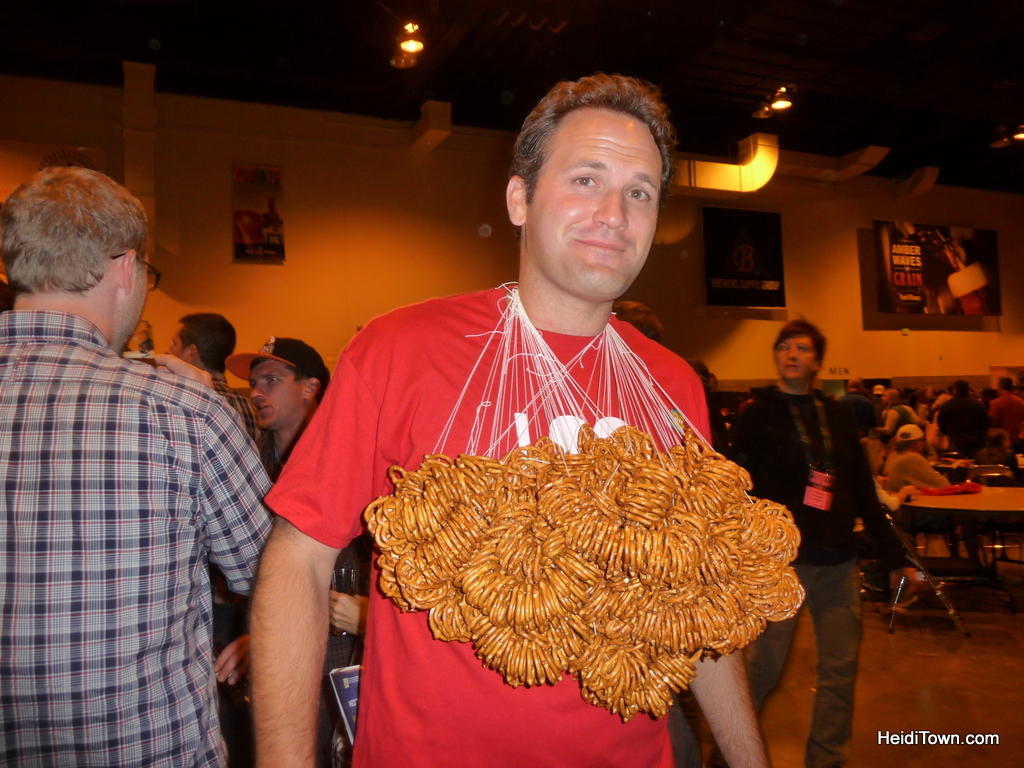 Great American Beer Festival 2012. The ultimate pretzel necklace. HeidiTown.com