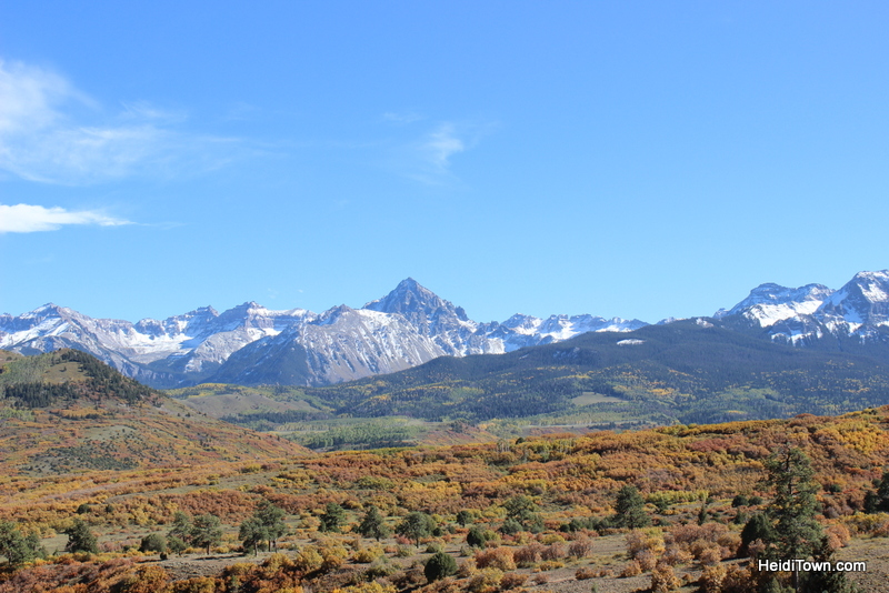 between ridgeway and telluride. Colorado iin the fall of 2013. HeidiTown.com