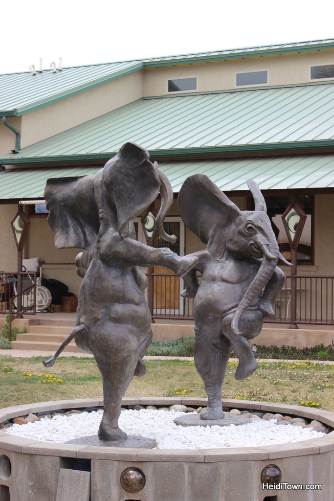 dancing elephant sculpture in Hotchkiss, Colorado.