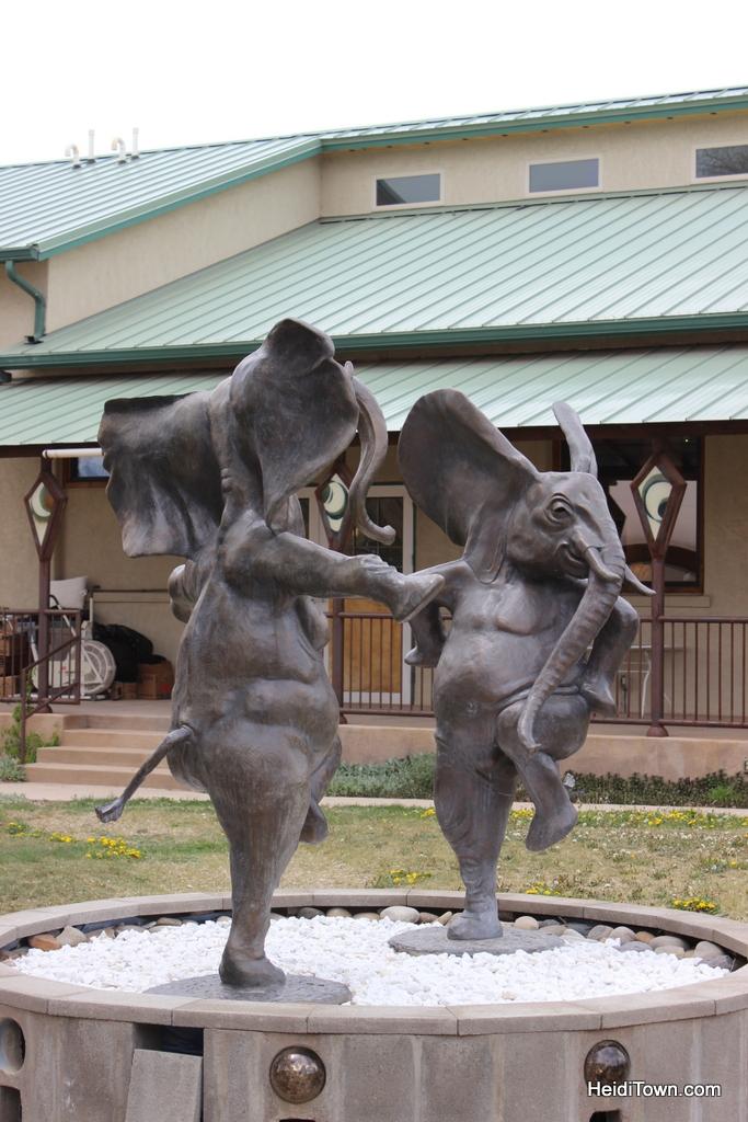 dancing elephant sculpture in Hotchkiss, Colorado.
