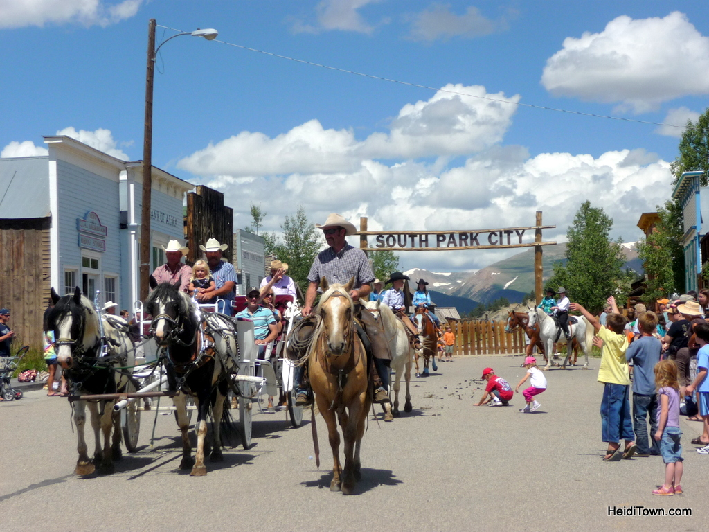 Burro Days Parade in the small town of Fairplay, Colorado. HeidiTown.com