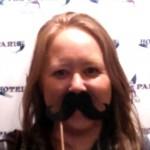 mustache Heidi at Hotel de Paris in Georgetown, Colorado. HeidiTown.com