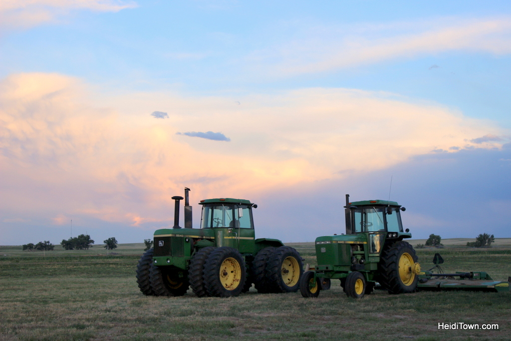 tractors on Keith Bath Farms in the small town of Fort Morgan, Colorado. HeidiTown.com