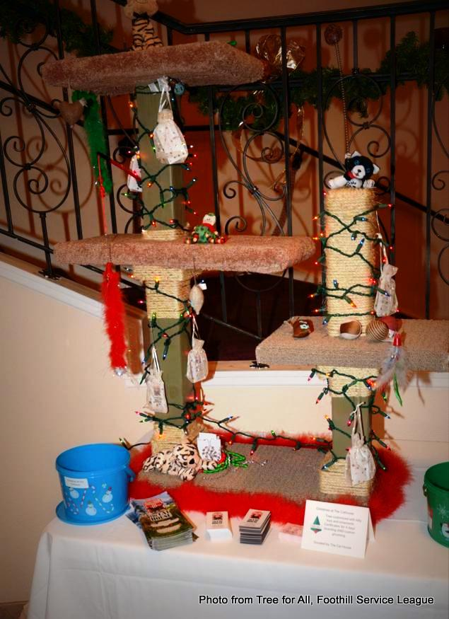 Cat Christmas Tree at Tree for All by Foothills Service League. HeidiTown.com