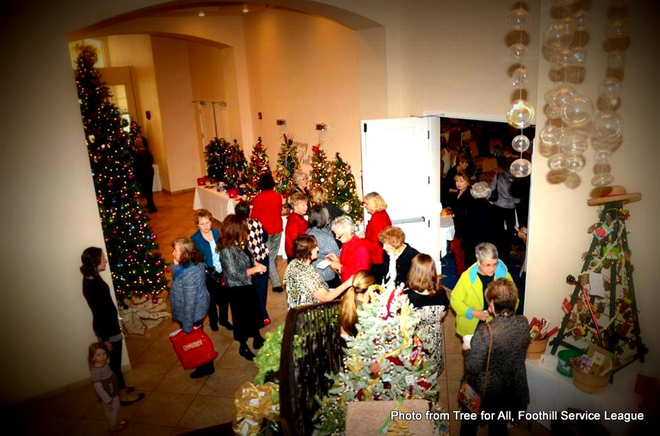Crowd shot at Tree for All, Foothills Service League. HeidiTown.com