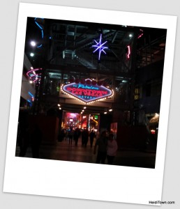 Downtown Vegas on Freemont Street. HeidiTown.com
