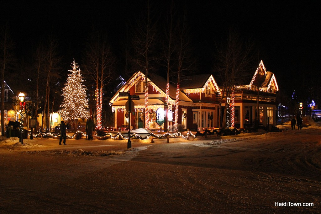 Breckenridge, Colorado decorated for the holidays. HeidiTown.com