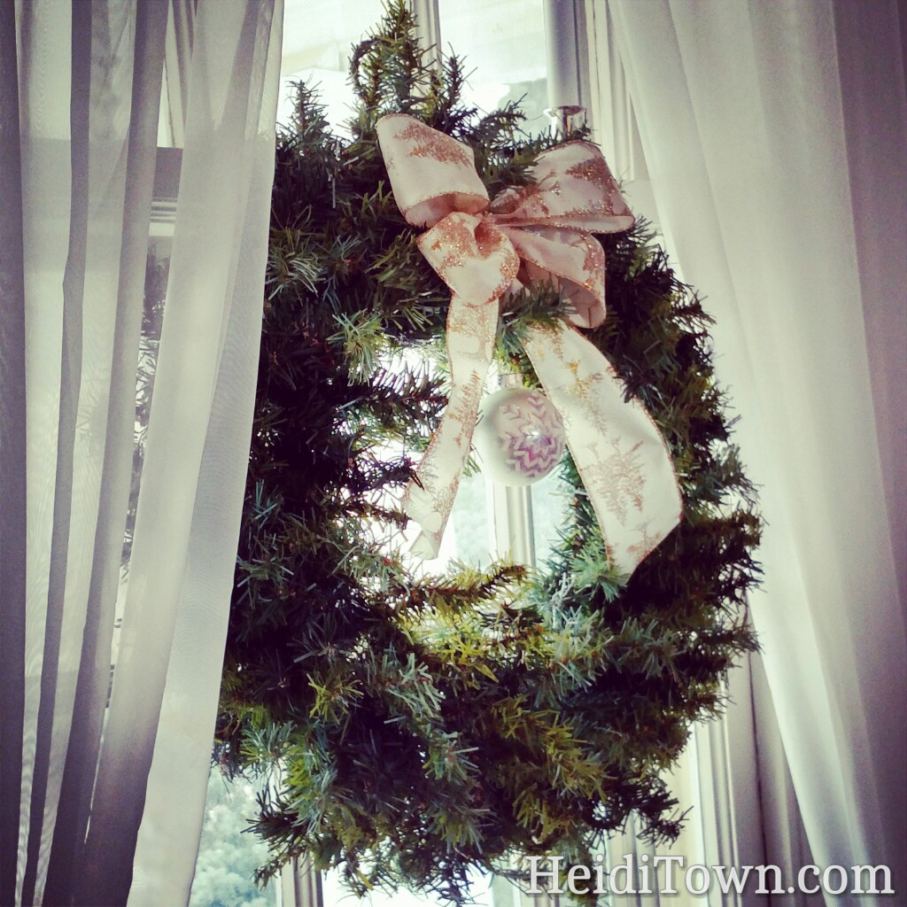 Christmas wreath at the Manor House in Littleton, Colorado