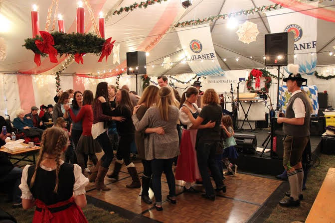 dancing at Dever Christkindl Market