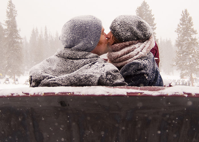 a romantic sleigh ride in Breckenridge Colorado.