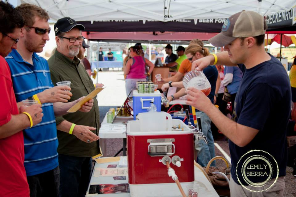 Brewery's pouring beer at Front Range Rally. Photo by Emily Sierra Photography. HeidiTown.com
