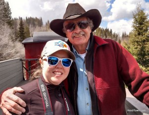 Heidi Kerr-Schlaefer, founder of HeidiTown.com and Bob Ross, chairman of the board of the friends of the cumbres & toltec scenic railroad.