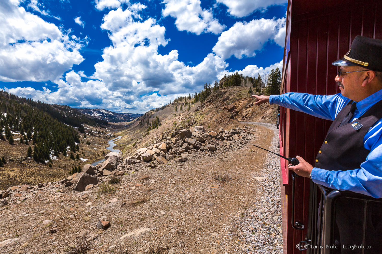 Ray Martinez, conductor of the Cumbres & Toltec Railroad. HeidiTown, photo by Alanna Brake