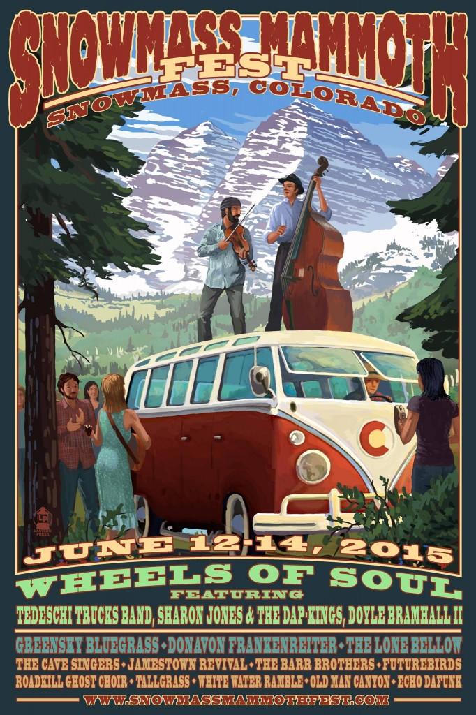 Snowmass Mammoth Festival poster 2015
