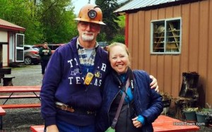 Tour guide Ronny & Heidi Kerr-Schlaefer, Mayor of HeidiTown at the Bachelor-Syracuse Mine in ouray, Colorado. Photo by Heidi Pankow.