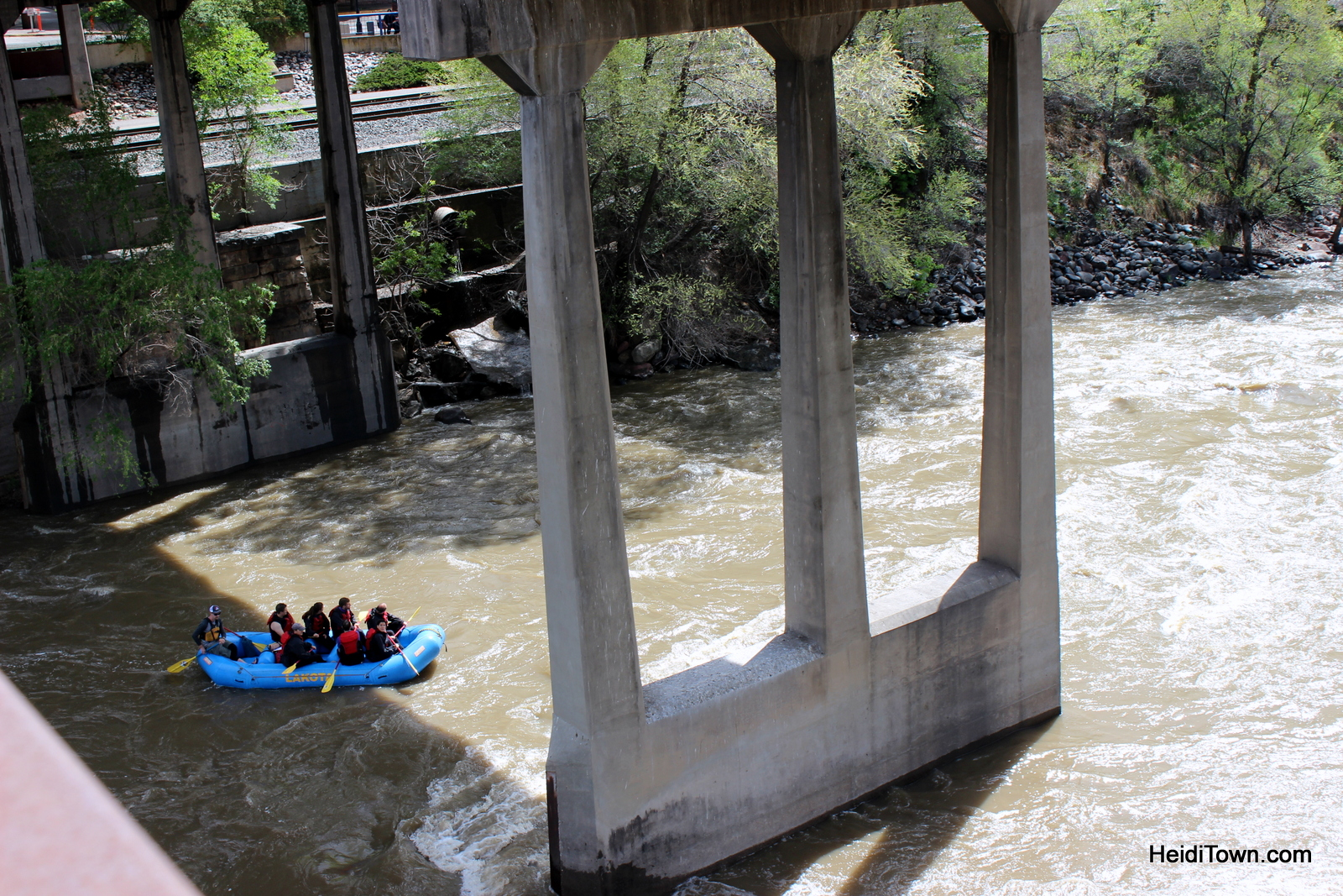 Rafting the Colorado River through Glenwood Springs, Colorado. HeidiTown.com