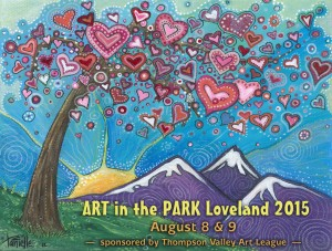Art in the Park poster logo 2015