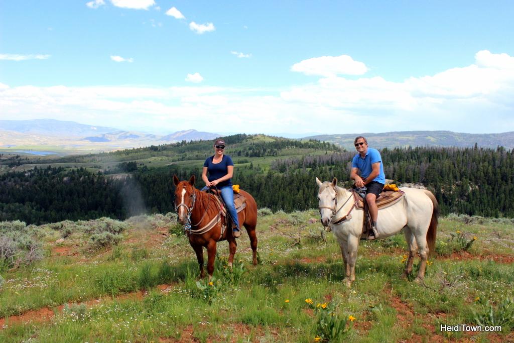 Horseback riding along the ridge at Latigo Ranch. HeidiTown.com