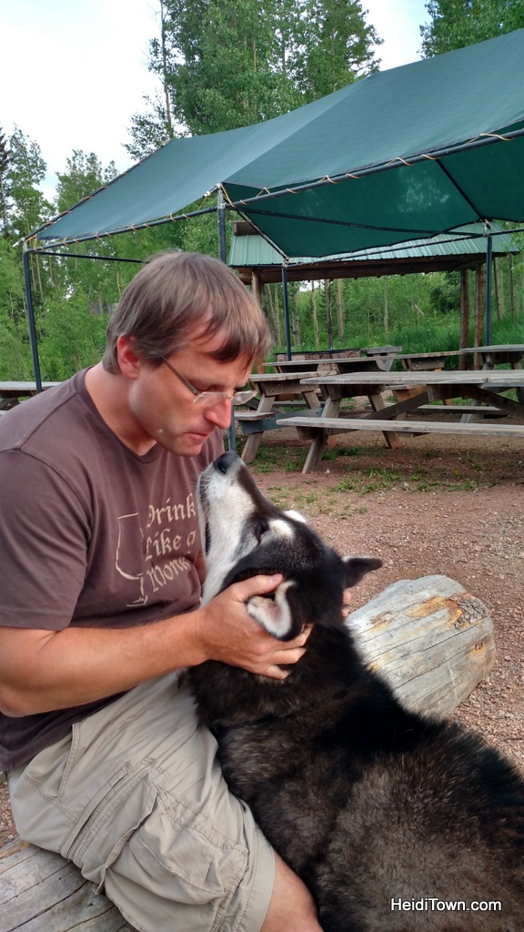 Kissing from Aspen the dog. Six reasons to love Latigo Ranch. HeidiTown.com