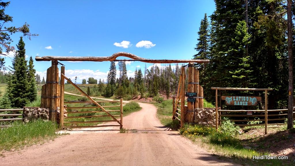 Latigo Ranch welcome sign. HeidiTown.com