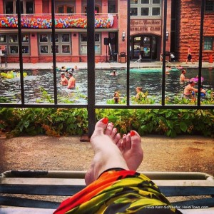 toes at Hot Springs Pool HeidiTown