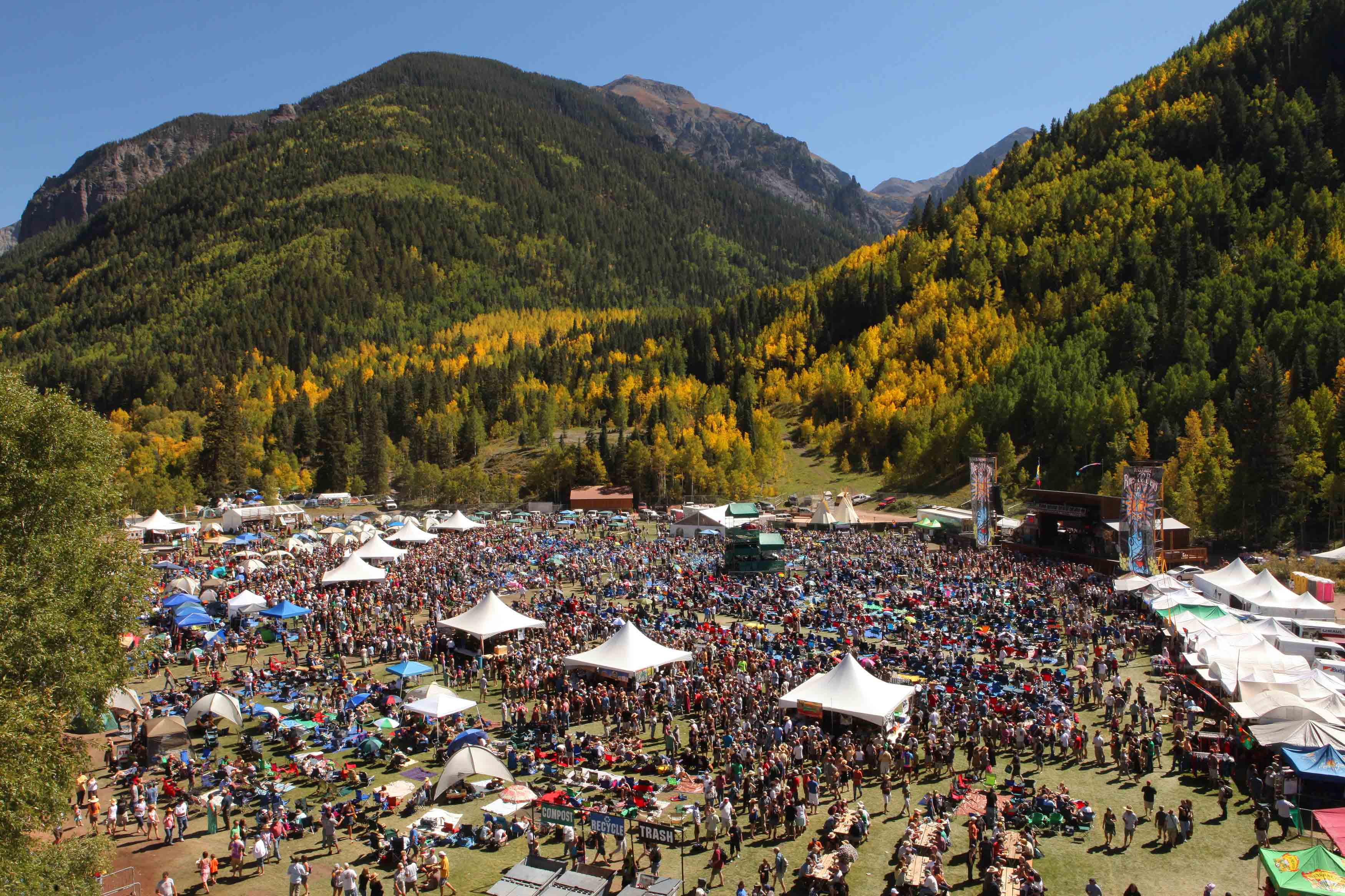 Aerial shot of Telluride Blues & Brews