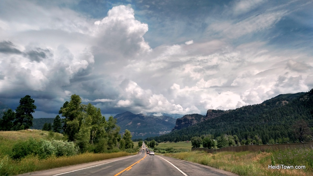 Heading out of Pagosa Springs towards Wolf Creek Pass. HeidiTown.com