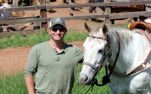 Ryan and Shadowfax at Latigo Ranch in Kremmling, Colorado. HeidiTown.com